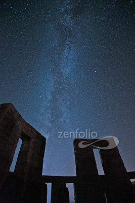 The Milky Way at Stonehenge, Maryville WA--2
